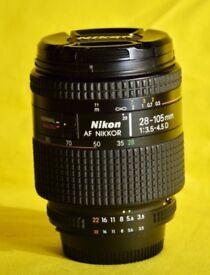 Nikon 28-105mm F3.5-F4.5 D (IF) Zoom Nikkor F Lens AFD