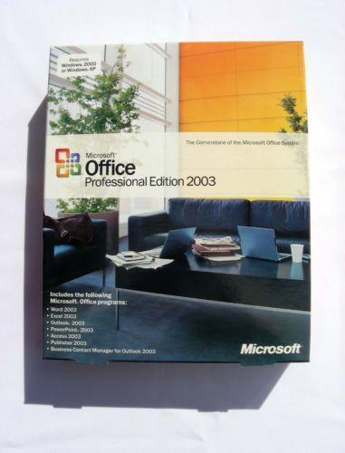 microsoft office 2003 professional ebay