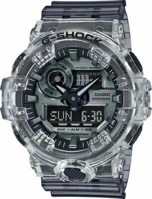 Casio G-Shock GA700SK-1A Analog Digital Resin Skeleton Clear/Silver Men's Watch