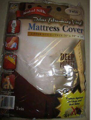RL Plastic Royal Silk  Deluxe Heavy Vinyl Mattress Cover Zipper - Zippered Plastic Mattress
