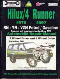 Toyota Hilux 4 Runner 1970 -1997 Petrol 2Wd 4WD SR5 Repair Manual