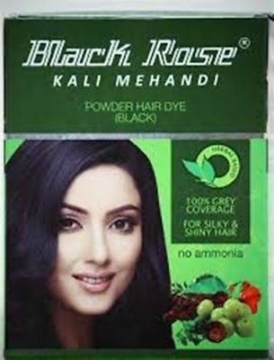 Black Rose Henna Powder Black Hair Dye Kali Mehandi 10g Sachets free shipping  Black Rose Hair Dye