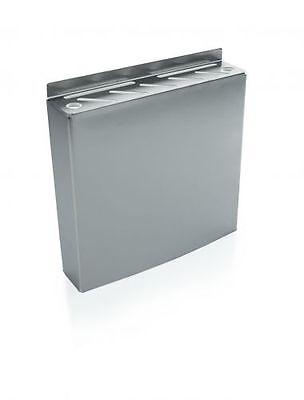 Messerhalter aus Edelstahl zur Wandmontage / Abm.: 30 x 6,5 x 30 cm