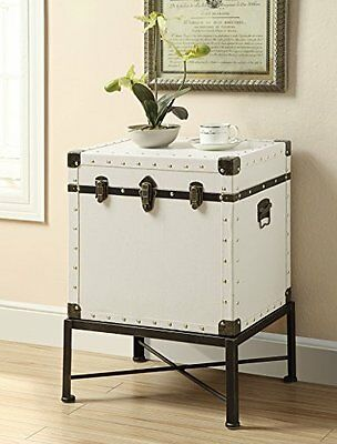 $144.08 - Coaster Home Furnishings 902819 Side Table White- New