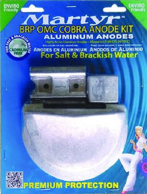 BRP OMC COBRA MAGNESIUM FRESHWATER ANODE KIT 3 ANODES HARDWARE & INSTRUCTIONS