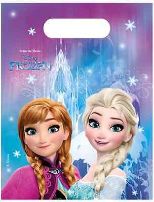 Frozen Anna und Elsa Party Tüten 6 Stück NEU - Partyartikel Dekoration Karneval ()