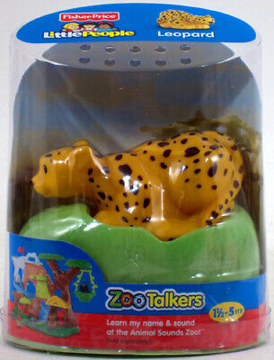 Fisher-Price Little People ZOO TALKERS LEOPARD Interactive sounds NEW