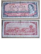 Canadian 2 Dollar Bill