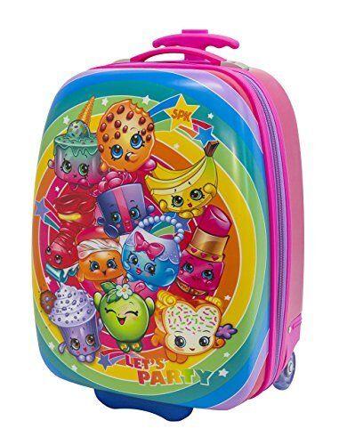 Moose Girls' Shopkins Hard Shell Luggage Case For Kids