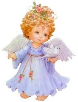 48  BEAUTIFUL LITTLE GIRL ANGEL!!!  STICKER LABEL ENVELOPE SEALS 1.2