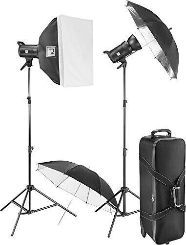 Platinum Pro Studio Flash Kit PT-DPSFK in Hard Case Photography Studio Softbox