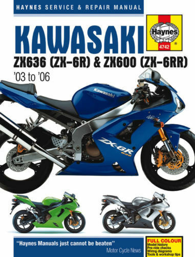 Haynes Manual Kawasaki ZX6R ZX6RR ZX6 ZX636B ZX636C ZX600 2003-2006