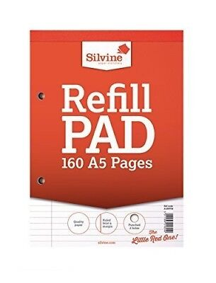 A5 Paper Refill Pad - Feint Lined Silvine 160 page pad