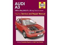 Haynes Manual Audi A3 1996-2003 Petrol Diesel 4253
