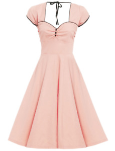Lindy Bop Bella Dress Peach Size 8 New With Tags