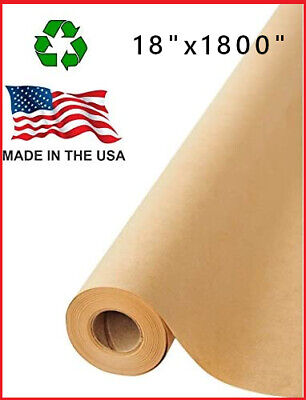 18 X 1800 Brown Kraft Paper Roll Shipping Wrapping Cushioning Void Fill