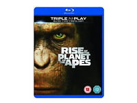 Rise Of The Planet Of The Apes [Blu-ray + DVD + UV] VGC