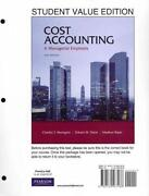 Cost Accounting Horngren