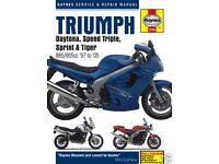 Haynes Triumph Motorbike Manual.