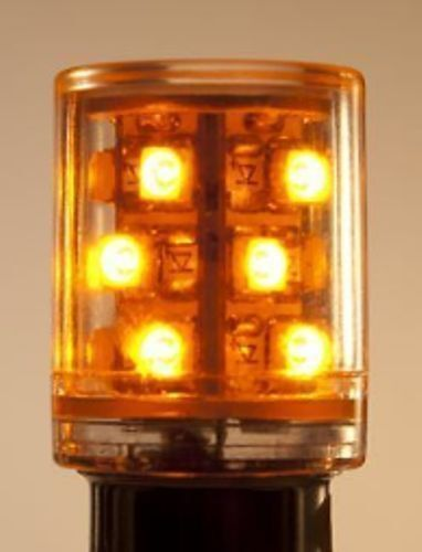 LED Bulb BA15D 10 LED T5-1/2 Amber Yellow Tower Light 120V