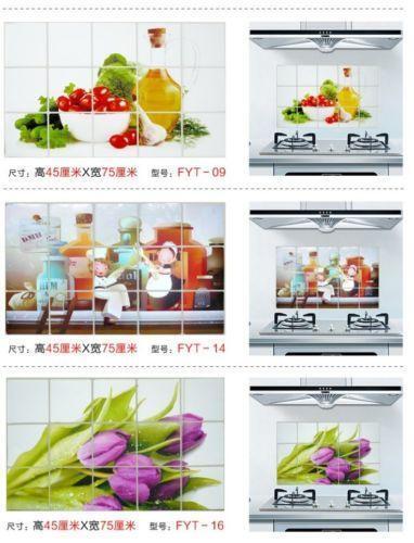 Kitchen oil proof wallpaper ebay for Thick kitchen wallpaper