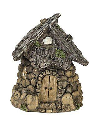 Hobbit House - NEW Miniature Enchanted Cottage Gnome Hobbit Fairy Stone House FREE SHIPPING