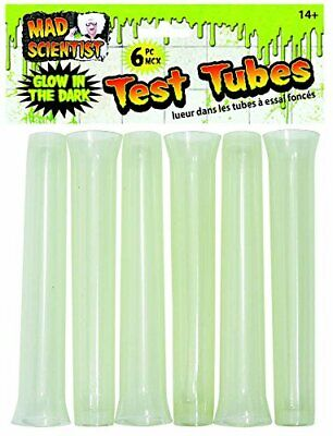 Mad Scientist Lab Haunted House Carnival Halloween Party Favor Glow Test Tubes ()