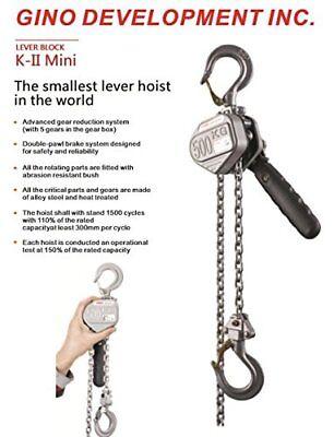 Truepower Advanced Mini Lever Chain Hoist 14 0.25 Ton 3 Standard Lift