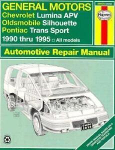 Haynes Automotive Repair Manual: Gm Chevy Lumina Apv, Olds Silhouette, and  Pontiac Transport, 1990-1995 : Automotive Repair Manual by Haynes