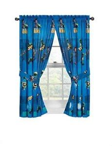 Toy Story Drapes Kids Window Panel Curtains with Tie Backs (Dark Blue)