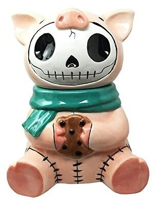 Skull Cookie Jar (Furry Bones Bacon Ceramic Cookie Jar Collectible Kitchen Hosting Dining)