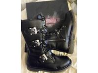 Demonia Defiant 303 Mid Calf Boots size UK 9/US 10