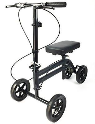 Economy Knee Scooter Walker Aid Steerable Medical Leg Scooter KneeRover®, Black