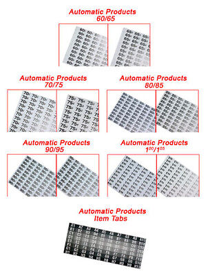 New Price Selection Tab Sheets For Ap Automatic Products Vending Machines
