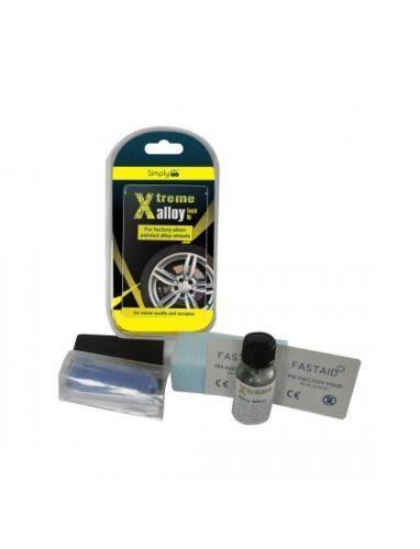 Car Silver Alloy Wheel Touch Up Repair Kit Minor Scuff Scrape Kerb Damage Restor