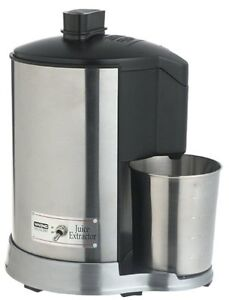 Stainless Steel large Waring Health 400 W Juice Extractor in gre