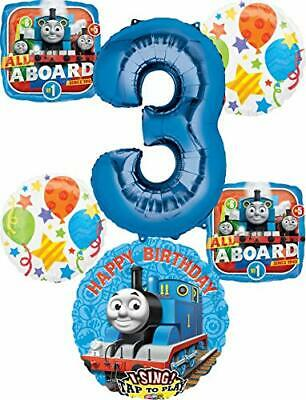 Thomas the Train Party Supplies 3rd Birthday Sing A Tune Tank Engine Balloon ...