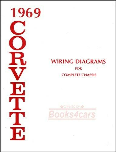 corvette 1969 wiring diagram chassis shop manual chevrolet service repair  book | ebay  ebay