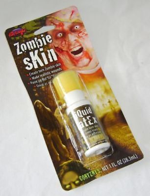 Liquid Latex Zombie Effects (NEW ZOMBIE SKIN LIQUID LATEX CREATE DEAD TORN SKIN WOUNDS SPECIAL)
