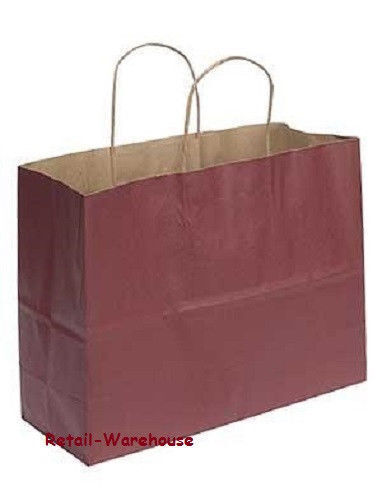 """Paper Vogue Shopping Bags 100 Large Red 16 x 6 x 12 ½"""" Retail Merchandise Gift"""