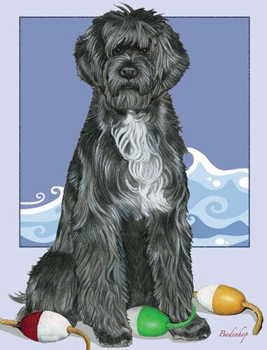 Portuguese Water Dog Birthday Card