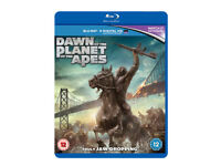 Dawn Of The Planet Of The Apes [Blu-ray and UV] VGC
