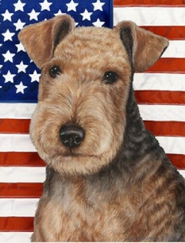 Patriotic (D2) House Flag - Lakeland Terrier 32234