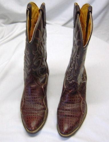 mens used cowboy boots size 10 d ebay