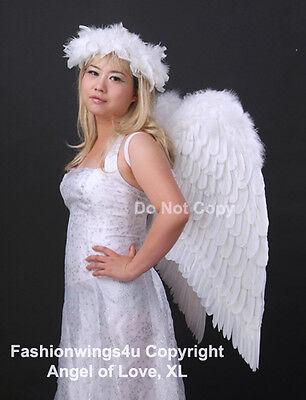 Adults XL Wingspan Costume Feather Angel Wings Dark Fairy Maleficent Demon Angel (Demon Costume Wings)