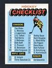 Hockey Checklist