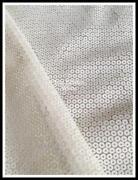 White Sequin Fabric