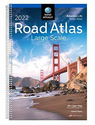 2022 Large Scale Road Atlas Rand McNally Large Scale Road Atlas USA
