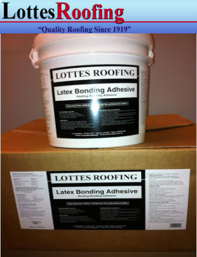1 Gallon Latex  EPDM AND TPO RUBBER ROOFING GLUE Bonding Adhesive
