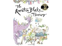 The Quentin Blake treasury hard back hardback book , almost new, perfect dust cover